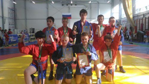 Победители и призеры Турнира по борьбе самбо г. Таруса